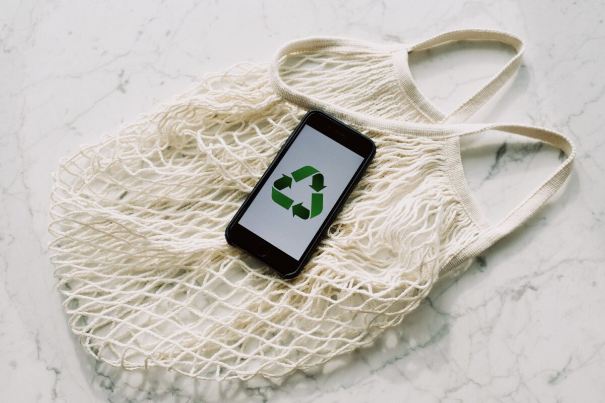 How does recycling electronics help create sustainability within the industry?